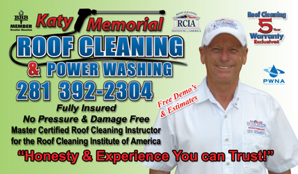 Katy Texas Roof Washing, Power Washing, Pressure Washing