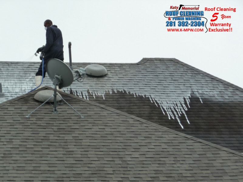 Composition Shingle Roof Cleaning Katy Texas